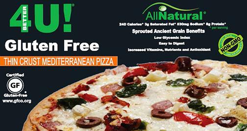 Certified gluten free pizzas