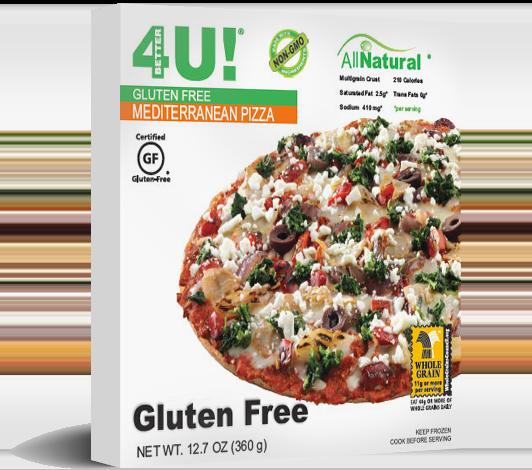 Personal Size Gluten Free Mediterranean Pizza
