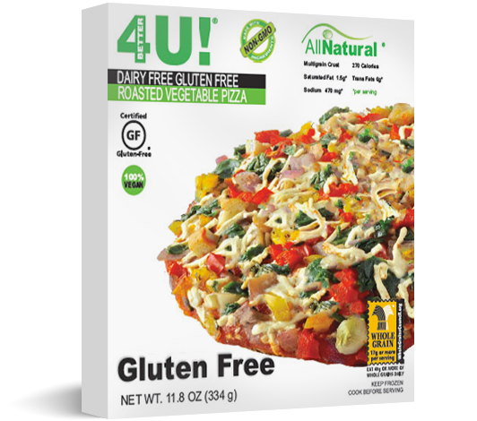 Personal Size Dairy Free / Gluten Free Roasted Vegetable Pizza