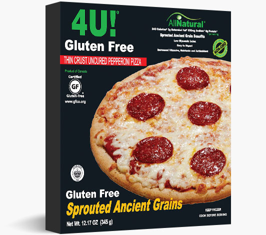 Thin Crust Gluten Free Sprouted Ancient Grains Pepperoni Pizza